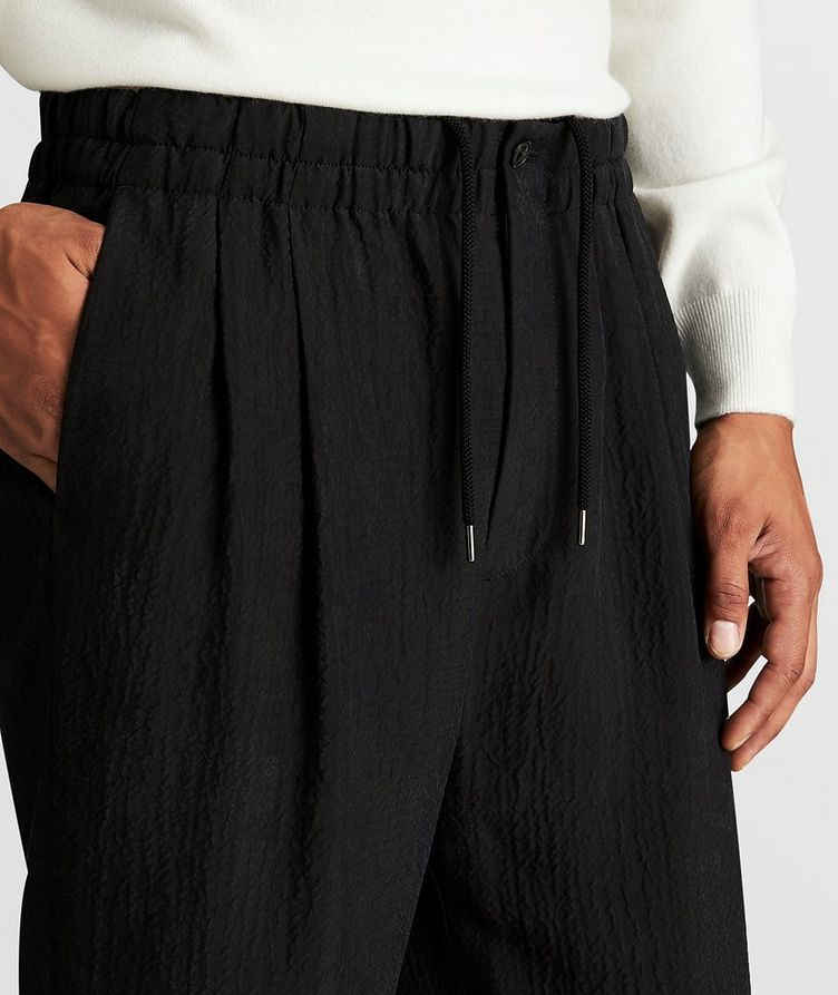 Crinkled Cupro Drawstring Pants image 3
