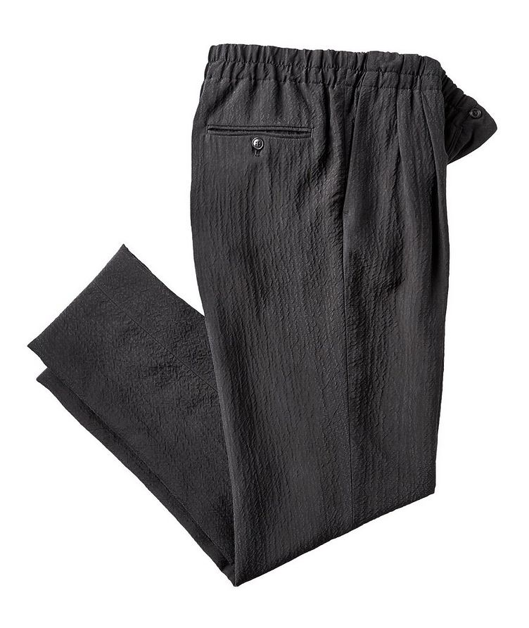Crinkled Cupro Drawstring Pants image 0