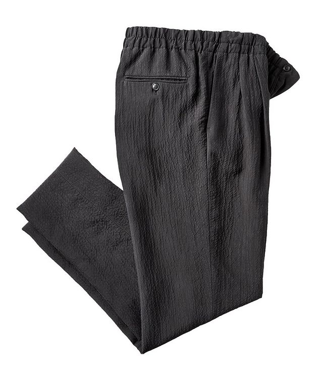 Crinkled Cupro Drawstring Pants picture 1