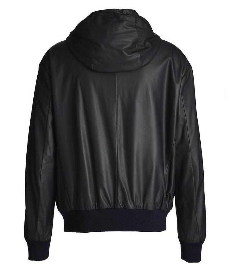 Hooded Leather Jacket image 1