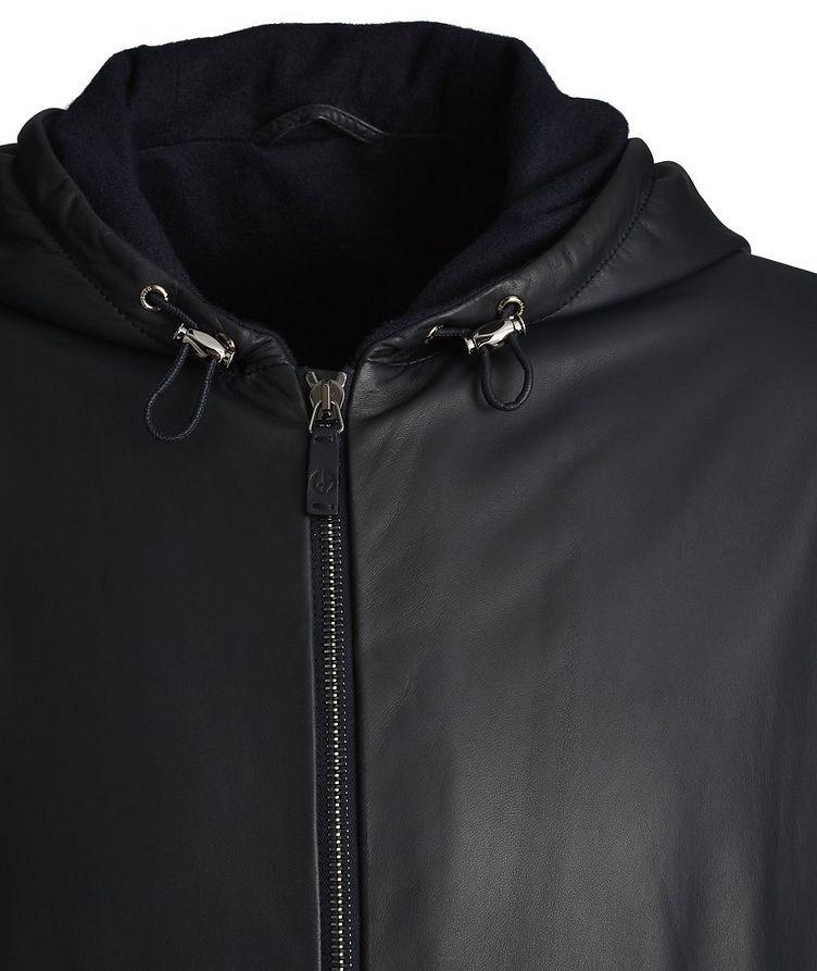 Hooded Leather Jacket image 2
