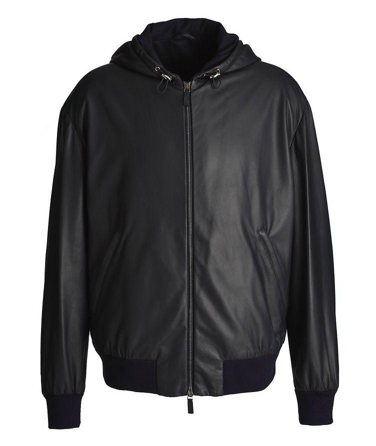 Hooded Leather Jacket image 0