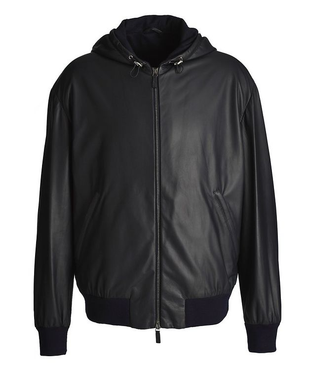 Hooded Leather Jacket picture 1