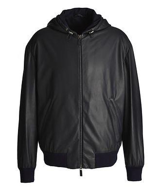 Giorgio Armani Hooded Leather Jacket