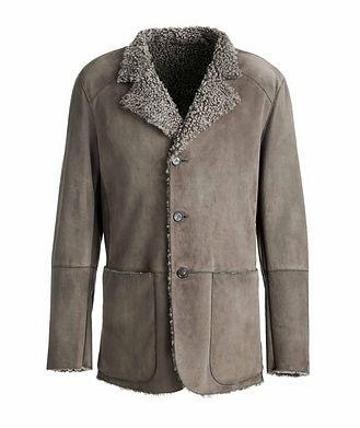 Giorgio Armani Suede and Shearling Jacket