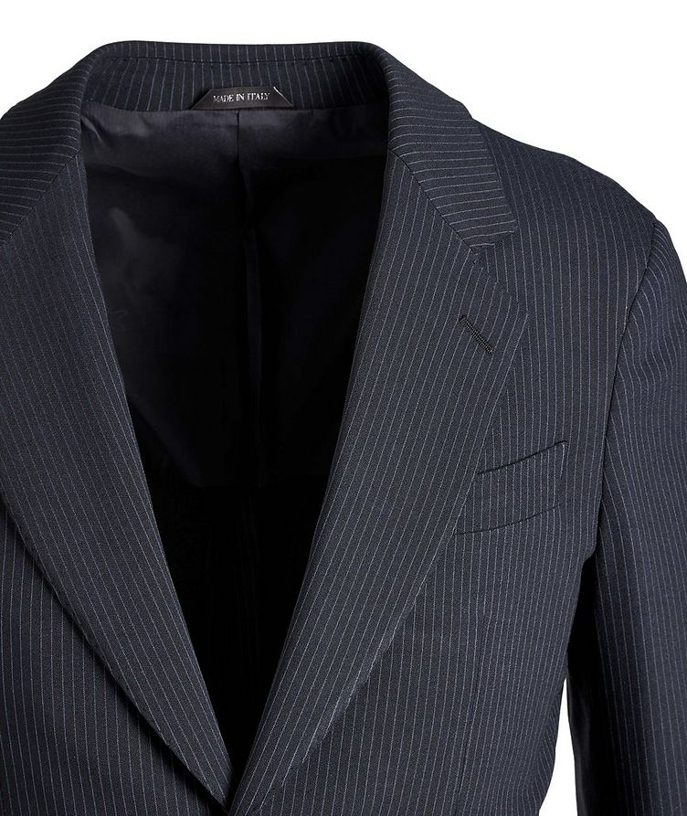 Napoli Pinstriped Stretch Wool-Silk Suit image 1