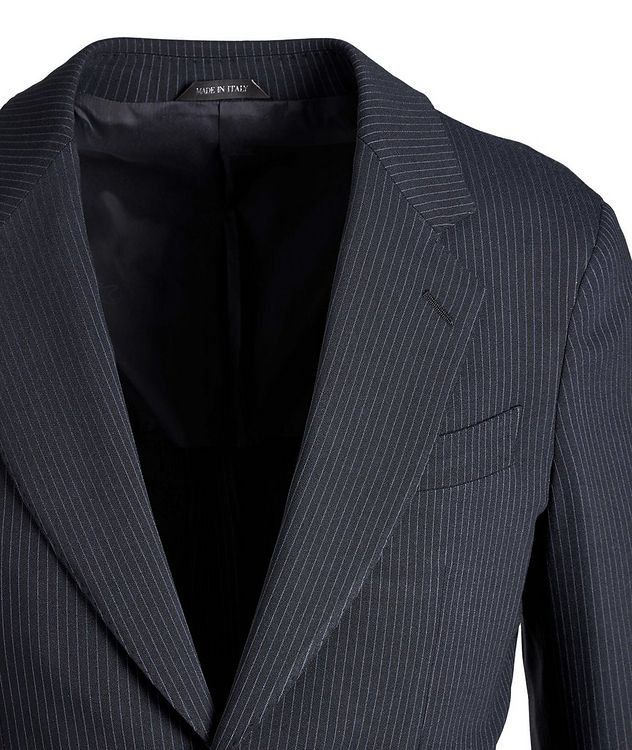 Napoli Pinstriped Stretch Wool-Silk Suit picture 2