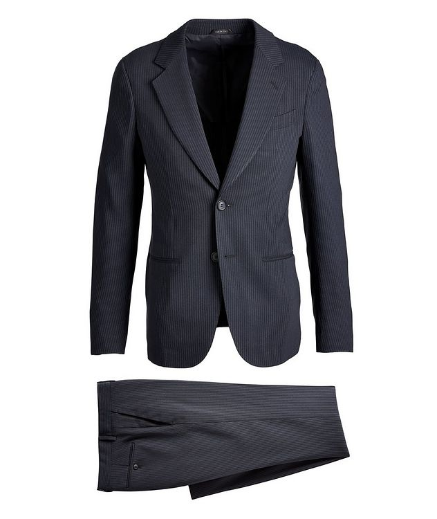 Napoli Pinstriped Stretch Wool-Silk Suit picture 1