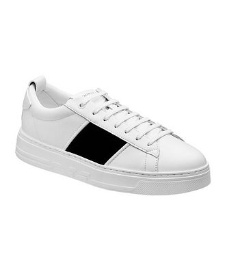 Emporio Armani Leather and Suede Sneakers