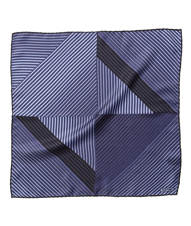 Printed Silk Pocket Square image 0