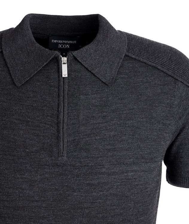 Icon Half-Zip Wool Polo picture 3