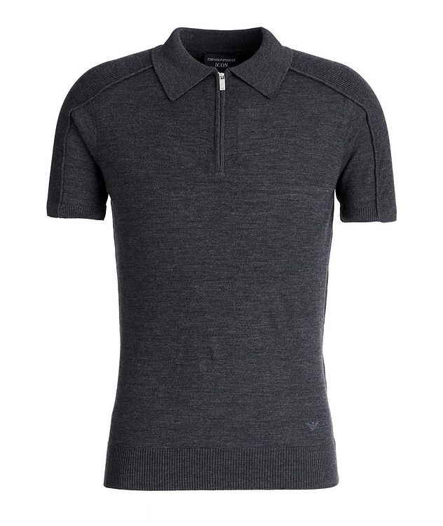 Icon Half-Zip Wool Polo picture 1