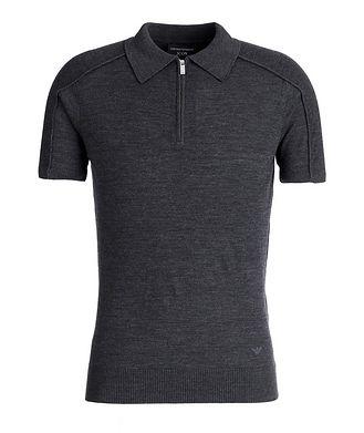 Emporio Armani Icon Half-Zip Wool Polo