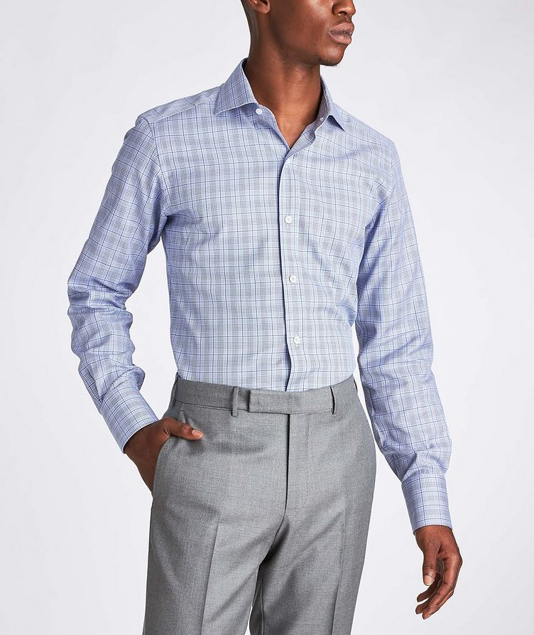 Slim Fit Glen-Checked Dress Shirt image 1