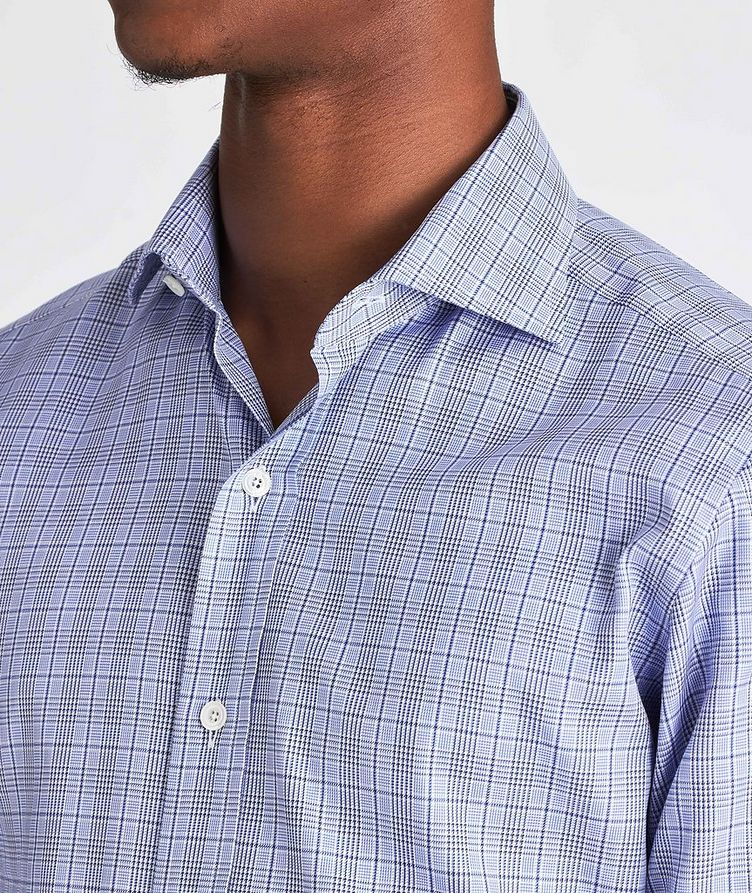 Slim Fit Glen-Checked Dress Shirt image 3