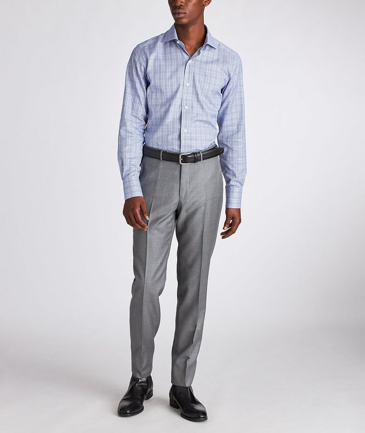 Slim Fit Glen-Checked Dress Shirt image 4