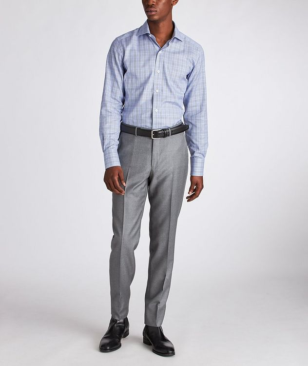 Slim Fit Glen-Checked Dress Shirt picture 5