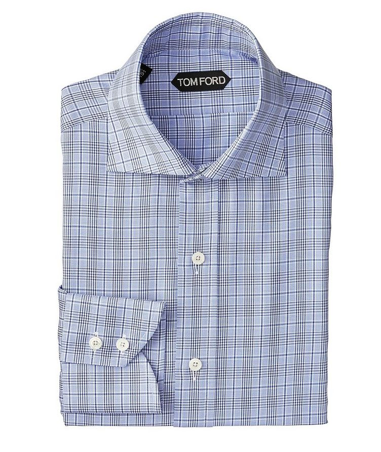 Slim Fit Glen-Checked Dress Shirt image 0