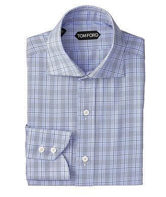 TOM FORD Slim Fit Glen-Checked Dress Shirt