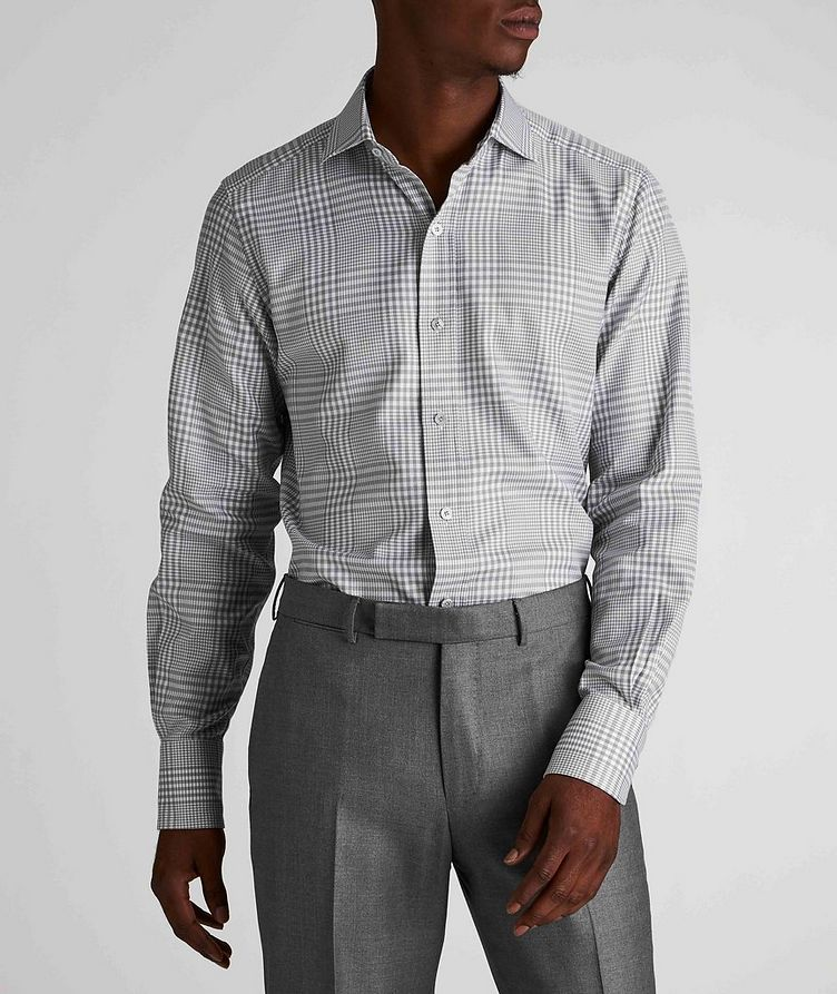 Classic Fit Gingham-Houndstooth Dress Shirt image 1