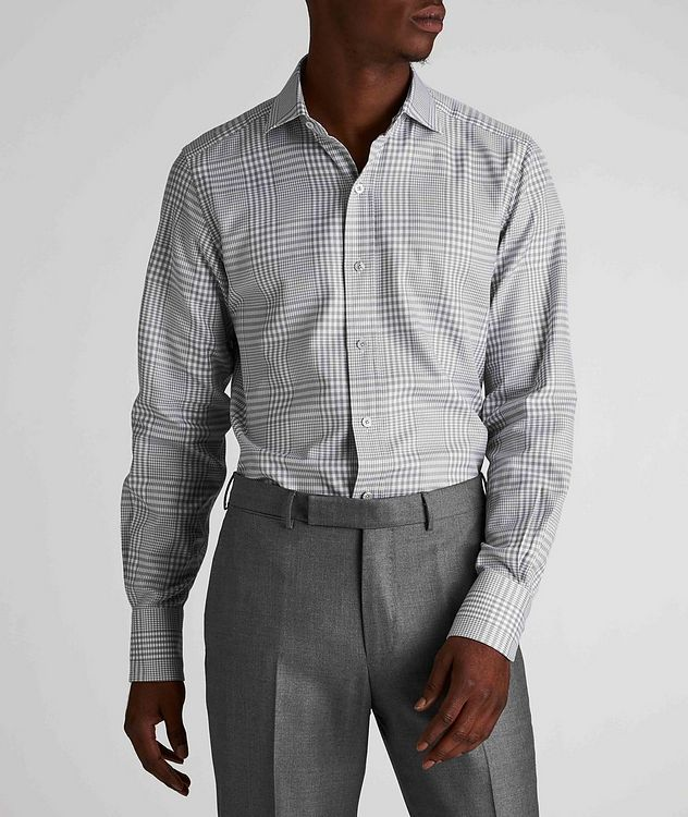 Classic Fit Gingham-Houndstooth Dress Shirt picture 2