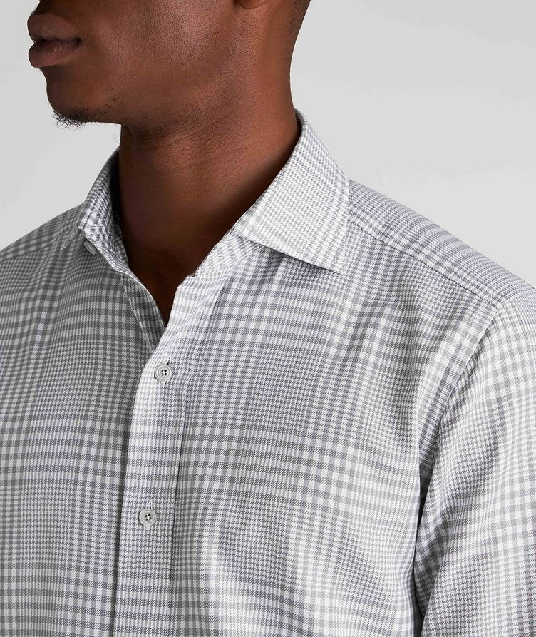 Classic Fit Gingham-Houndstooth Dress Shirt image 3