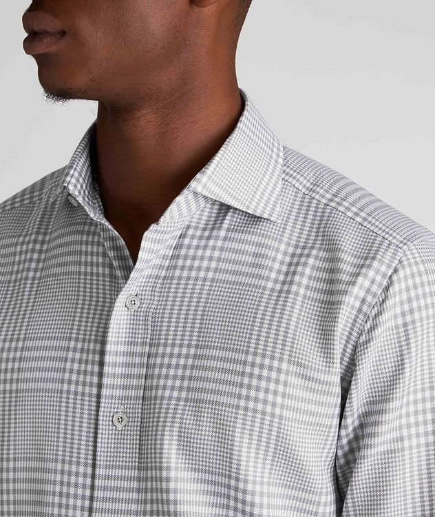 Classic Fit Gingham-Houndstooth Dress Shirt picture 4