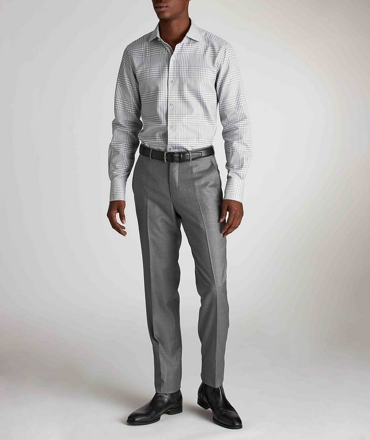 Classic Fit Gingham-Houndstooth Dress Shirt image 4