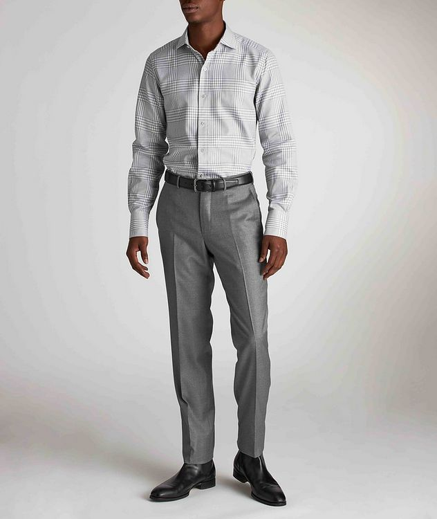 Classic Fit Gingham-Houndstooth Dress Shirt picture 5
