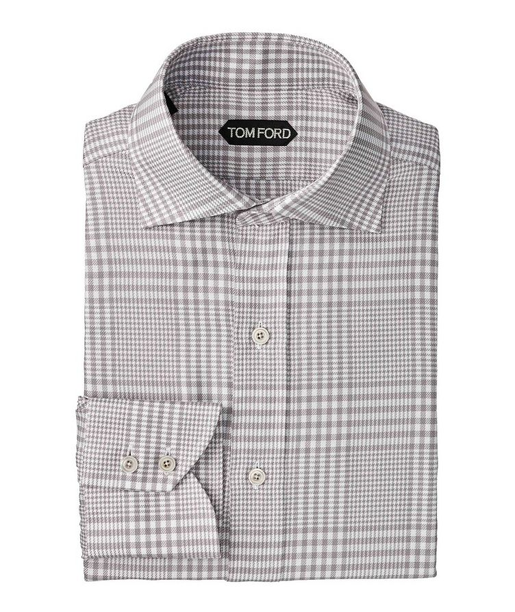 Classic Fit Gingham-Houndstooth Dress Shirt image 0