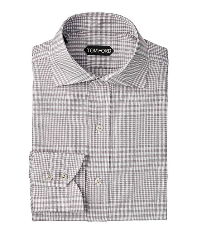 Classic Fit Gingham-Houndstooth Dress Shirt picture 1