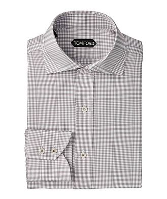 TOM FORD Classic Fit Gingham-Houndstooth Dress Shirt