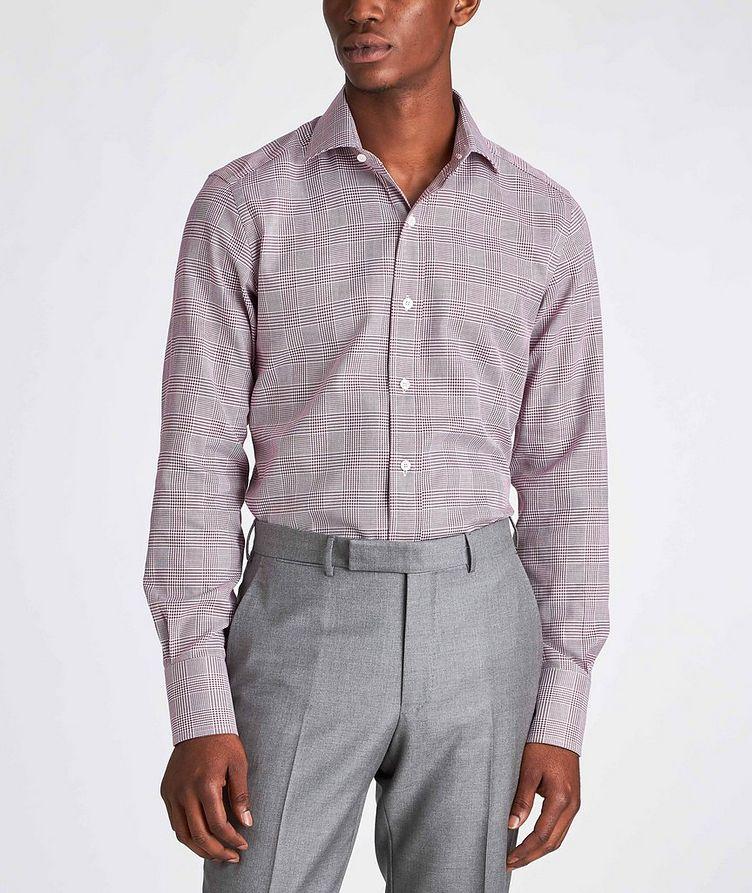 Slim Fit Glen-Checked Dress Shirt image 1