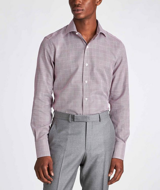 Slim Fit Glen-Checked Dress Shirt picture 2