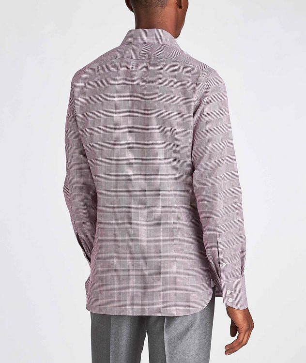 Slim Fit Glen-Checked Dress Shirt picture 3