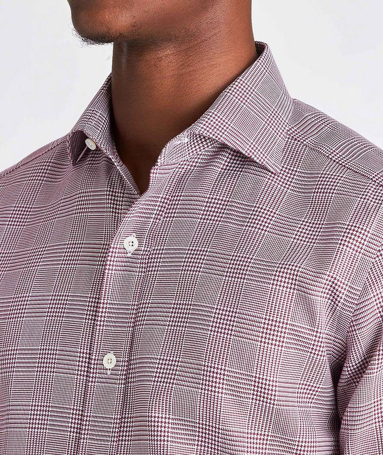 Slim Fit Glen-Checked Dress Shirt image 3