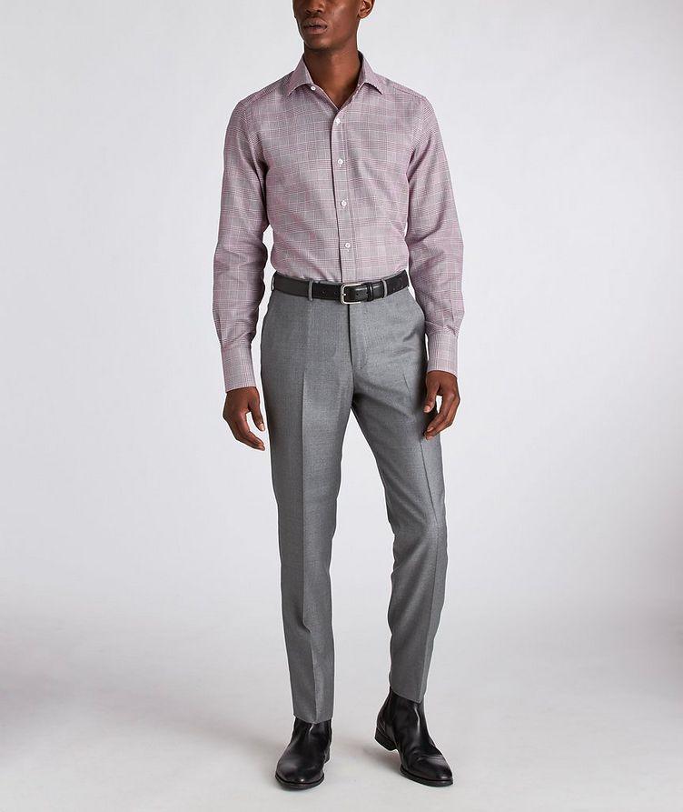 Slim Fit Glen-Checked Dress Shirt image 4