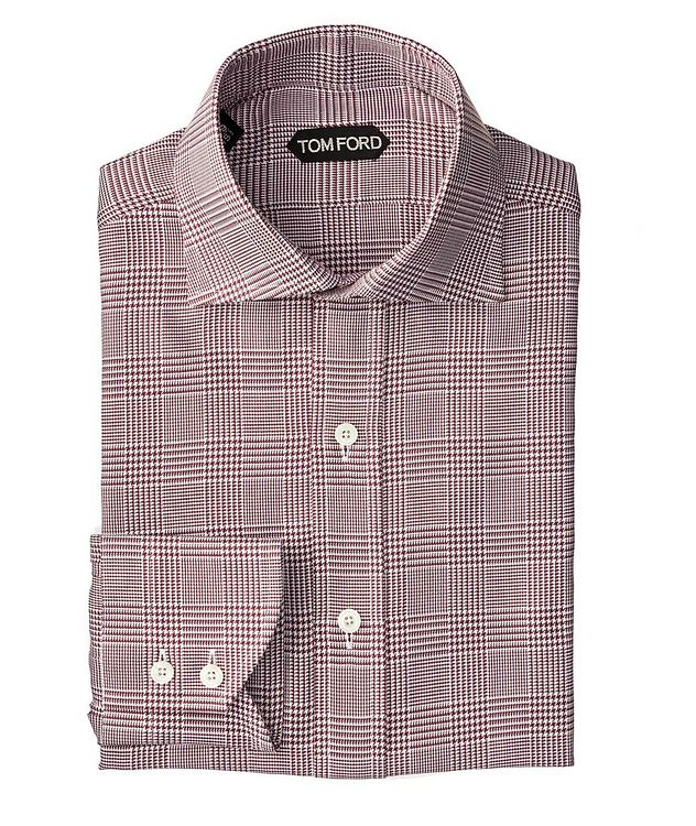 Slim Fit Glen-Checked Dress Shirt picture 1