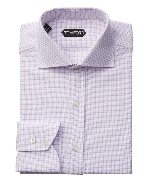 Slim Fit Grid-Checked Dress Shirt picture 1