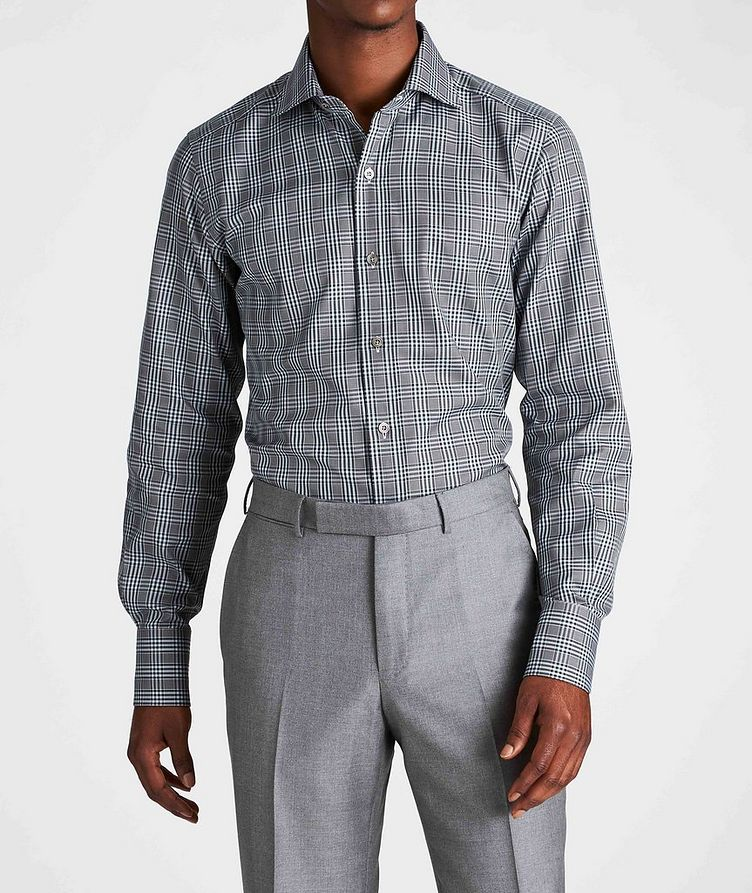 Classic Fit Plaid Dress Shirt image 1