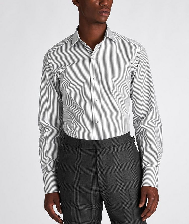 Slim Fit Striped Dress Shirt image 1
