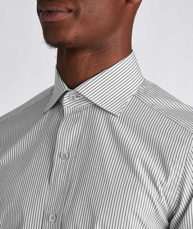 Slim Fit Striped Dress Shirt image 3