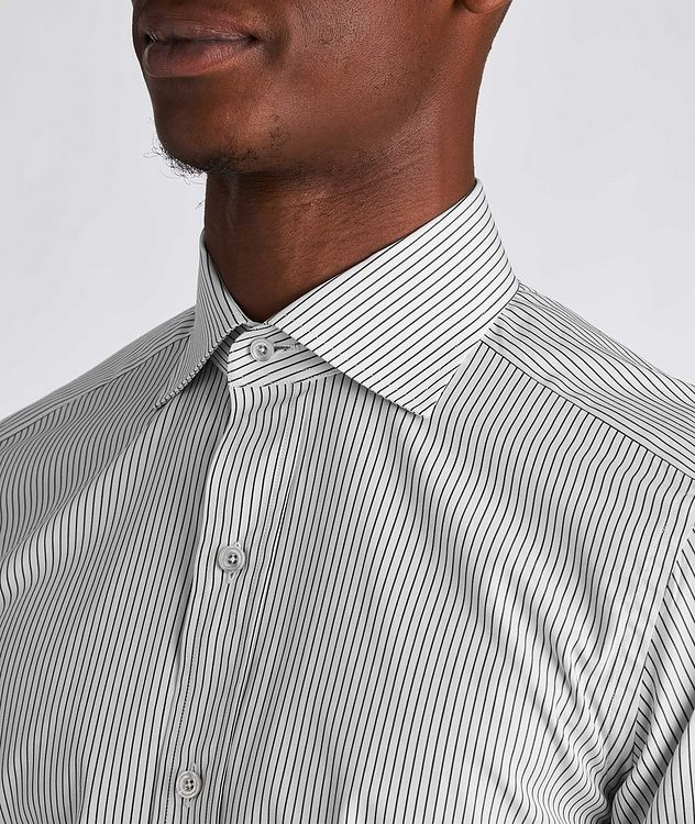 Slim Fit Striped Dress Shirt picture 4
