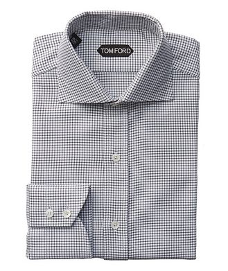TOM FORD Slim Fit Grid-Checked Dress Shirt