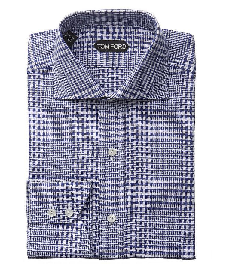 Chemise habillée à carreaux prince-de-Galles de coupe amincie image 0