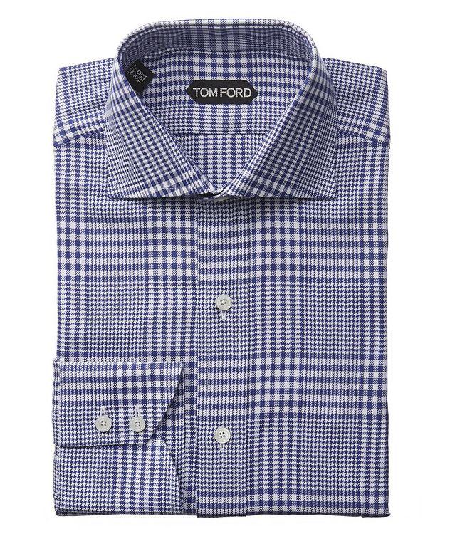 Chemise habillée à carreaux prince-de-Galles de coupe amincie picture 1