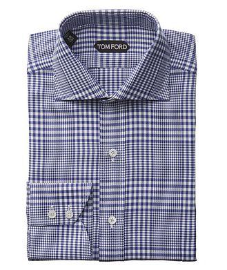 TOM FORD Chemise habillée à carreaux prince-de-Galles de coupe amincie