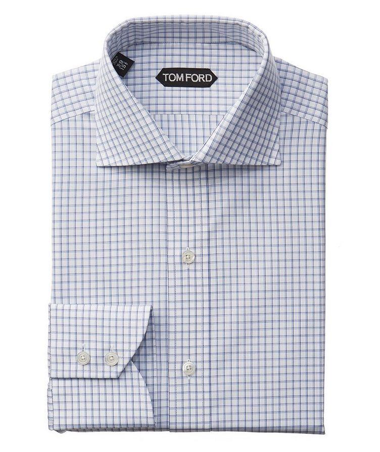 Slim Fit Grid-Checked Dress Shirt image 0