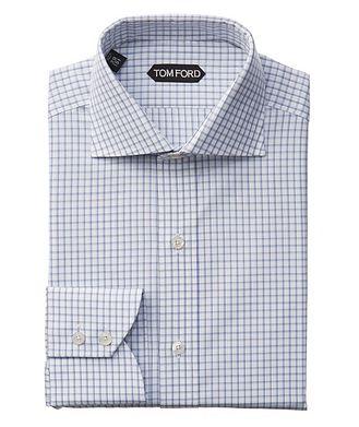 TOM FORD Chemise habillée à motif quadrillé de coupe amincie