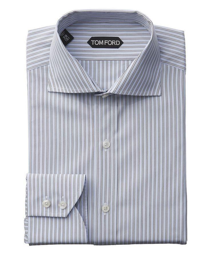 Chemise habillée à rayures de coupe amincie image 0